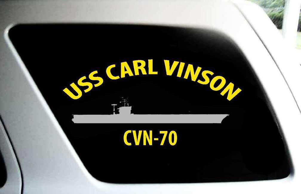 Nimitz Class Aircraft Carrier Silhouette Bumper Sticker