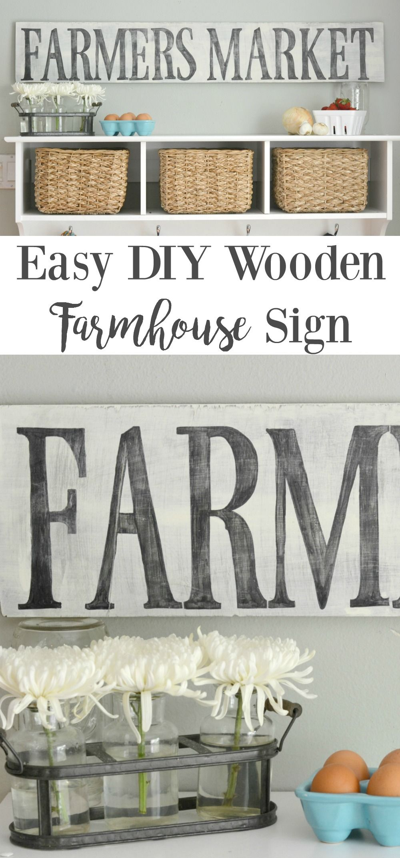 Easy DIY Wooden Farmhouse Sign | Tutorials, Easy and Fun diy