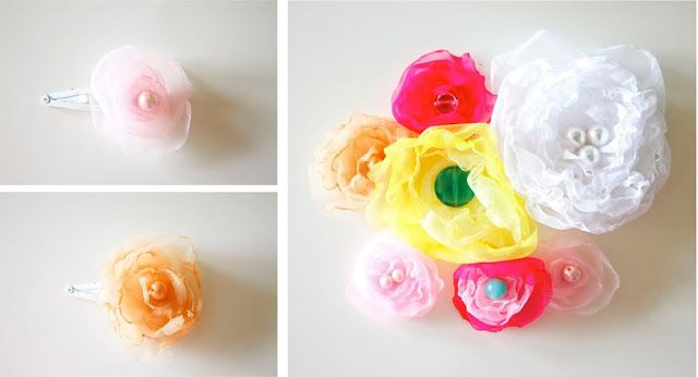 how to make chiffon flowers for hair