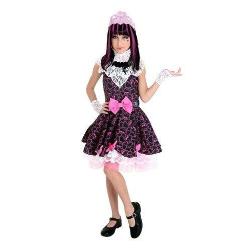 Fantasia Luxo Infantil Barbie Monster High2 Draculaura Doce -