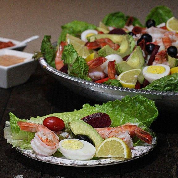 Seafood Salad Star Platter, Shrimp platter, Shrimp Salad, Erika Monroe-Williams, The Hopeless Housewife