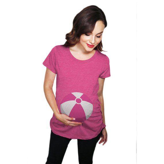 90b01c48c25be Beach Ball Maternity Shirt, Funny Maternity Shirt, Funny Pregnant Shirt,  Cute Maternity Shirt, Baby