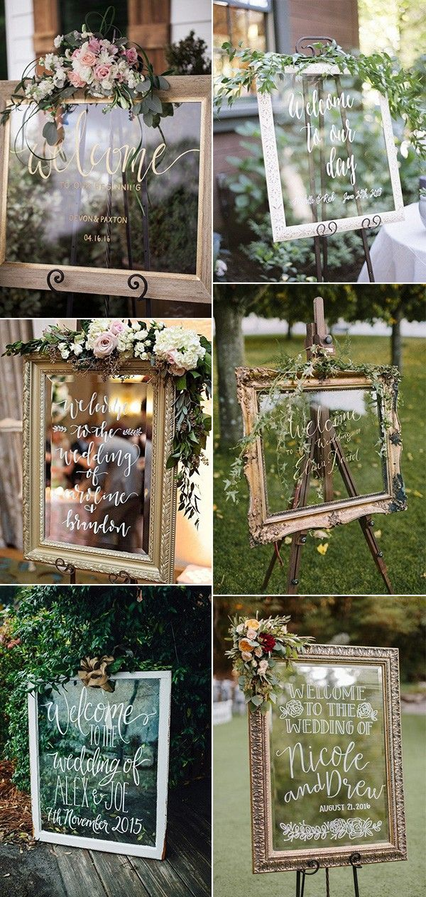20 Brilliant Wedding Welcome Sign Ideas for Ceremony and Reception - Page 2 of 3 #weddingwelcomesign