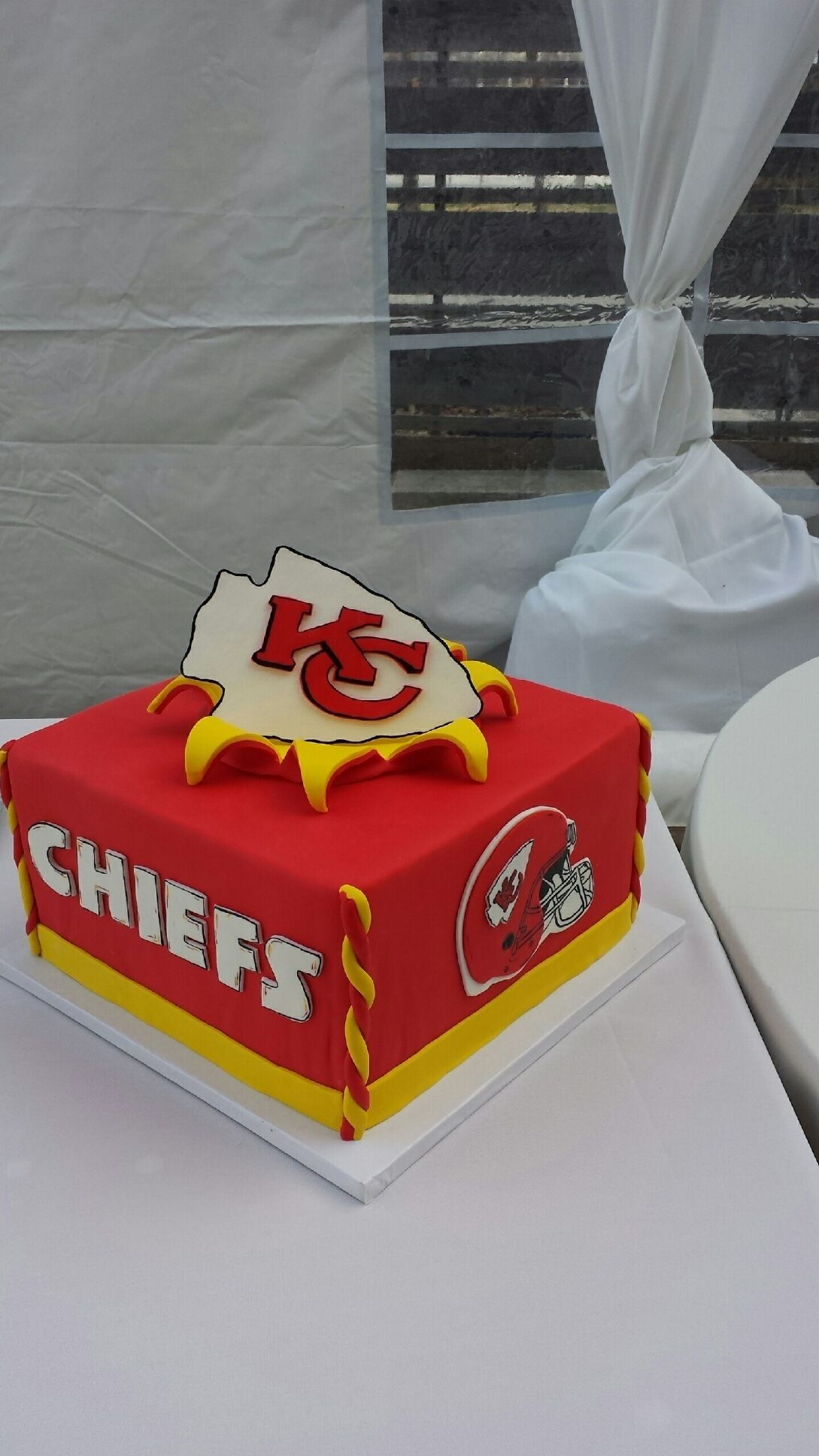 A KC Chiefs Grooms Cake Made By 3 Women And An Oven In Overland