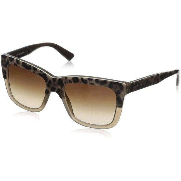 D&G Dolce & Gabbana Womens 0DG4262 Square Sunglasses ($134) ❤ liked on Polyvore featuring accessories, eyewear, sunglasses, square lens sunglasses, gradient lens sunglasses, square glasses, rimmed glasses and mirrored lens sunglasses