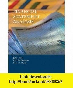 Financial Statement Analysis  John J Wild K R