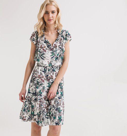 Fleurie Femme Robe Mode Imprimé Multicolore Promod 7dFq6UYxw