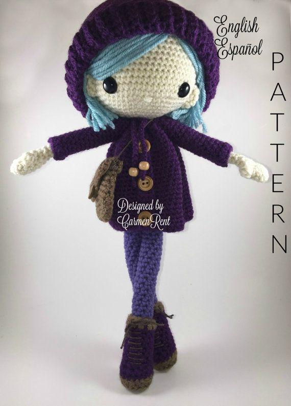 Emilia - Amigurumi Doll Crochet Pattern PDF | Disponible, Cuentas y ...