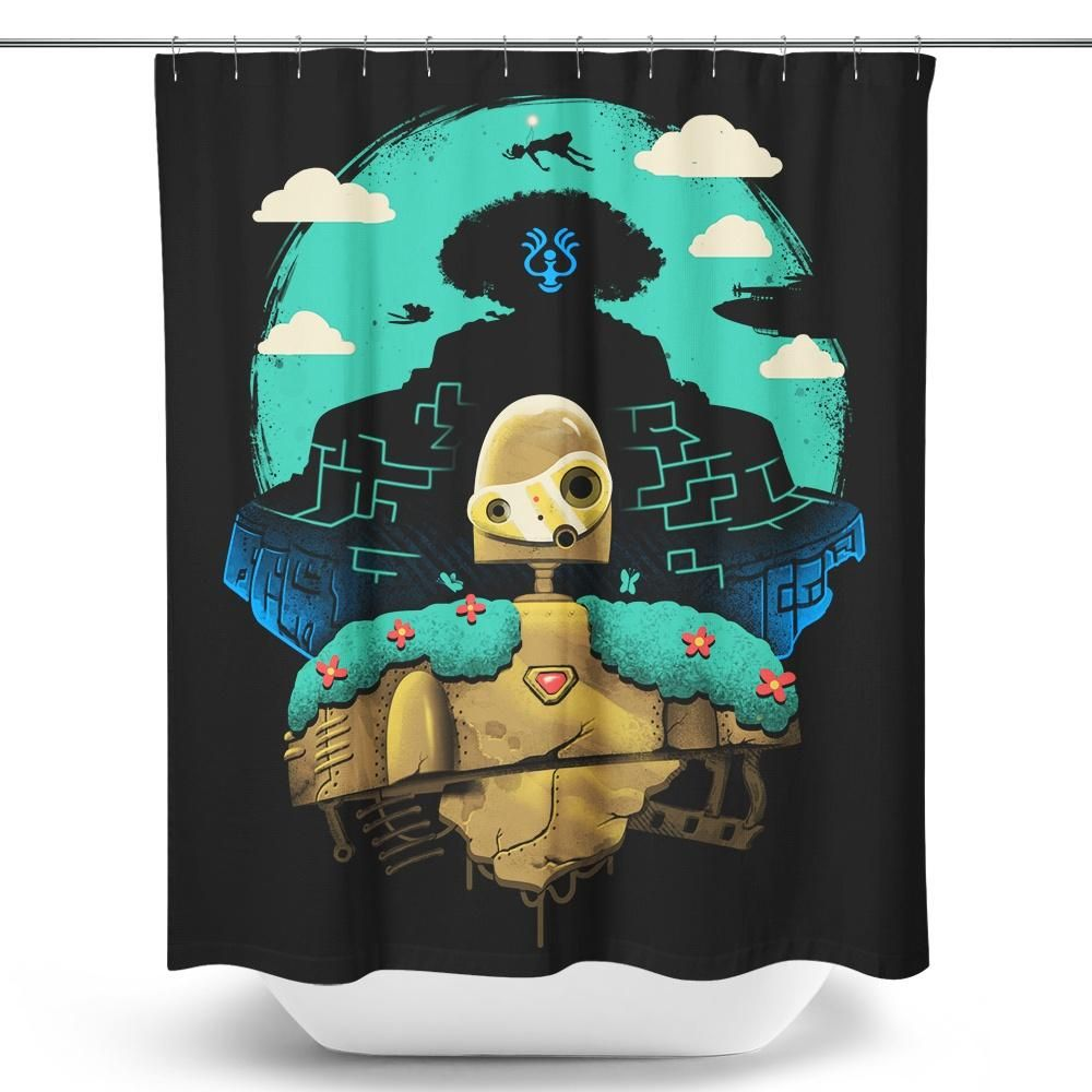 Sky Castle Automaton Shower Curtain With Images Castle In
