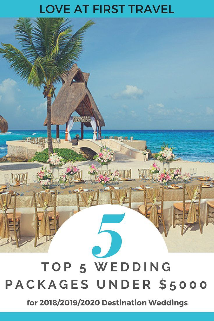 Weddings under 5000 // Budget Destination Wedding