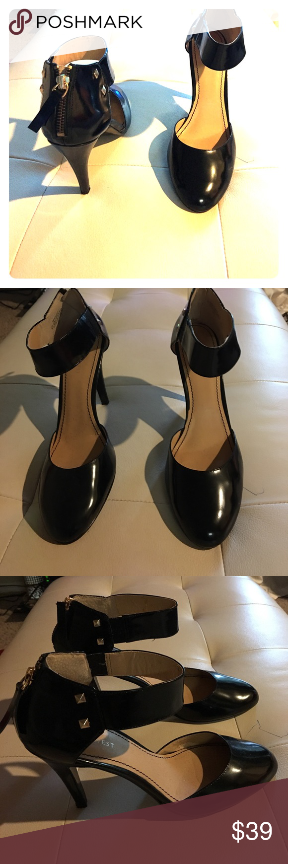 Gorgeous Nine West heels Gorgeous Nine West heels leather upper. Nine West Shoes Heels