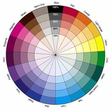 Color Wheel With Black Gray Included