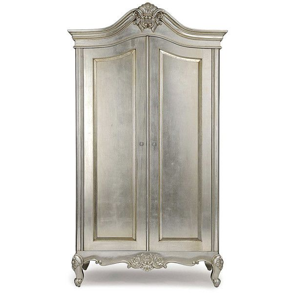 Cristal French Silver Leaf 2 Door Wardrobe ($2,175) ❤ Liked On Polyvore  Featuring Home