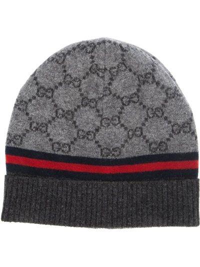 df12df81 GUCCI - monogram beanie hat 6   Men Fashion   Gucci hat, Beanie hats ...