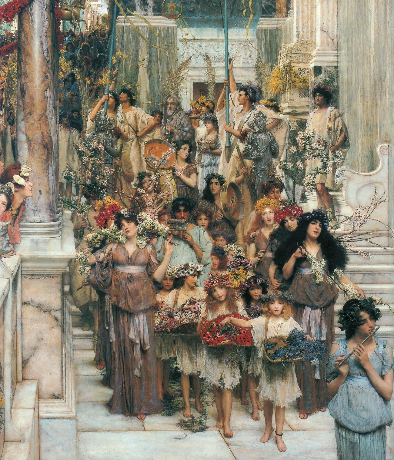 spring lawrence tadema Antique 1881 matted lawrence alma-tadema print - audience at agrippa's -  roman empire - architecture  lawrence alma-tadema: the vintage festival -  pagan & historic fine art giclee reproduction  spring - lawrence alma-tadema.