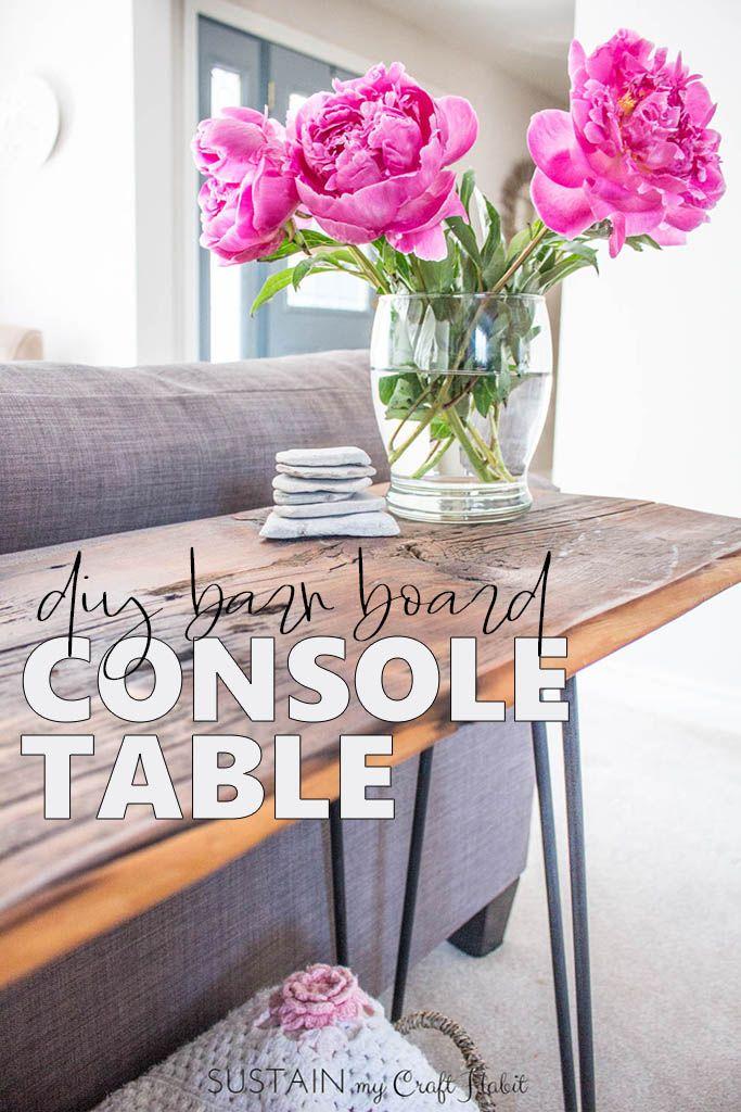 DIY Console Table with Barn Board -   13 room decor Modern consoles ideas
