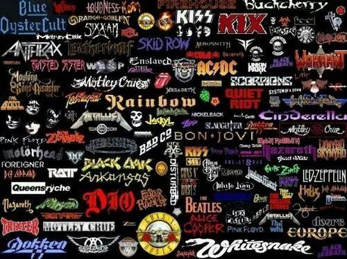 Multiple band names | My Favorite Music | Pinterest