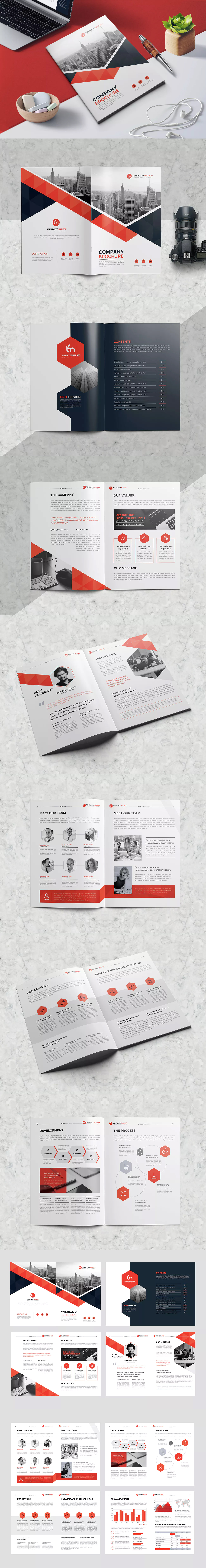 TM Company Profile Template InDesign INDD A4 | Graphic Design ...