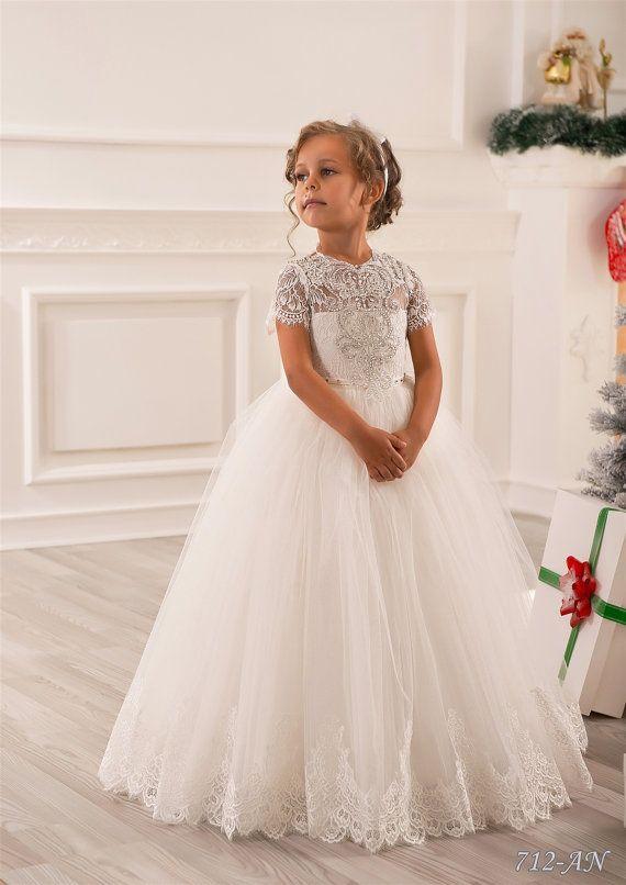Custom Made Flower Girl Dresses For Wedding Blush Pink Princess ...