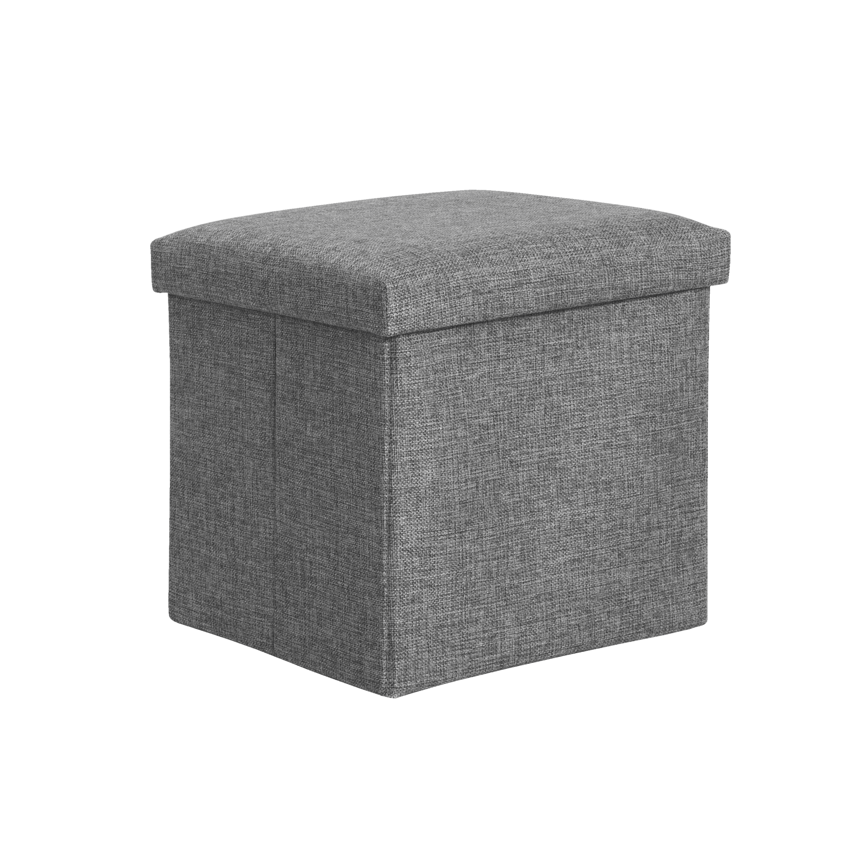 Domo Foldable Storage Cube Ottoman Grey Cube Storage Ottoman Cube