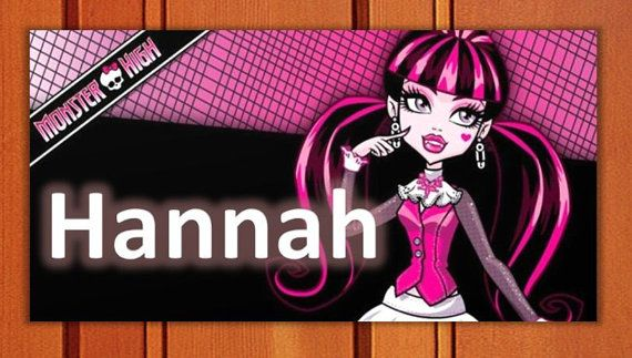 Draculaura Monster High Girl's Room Door SIGN Decor By