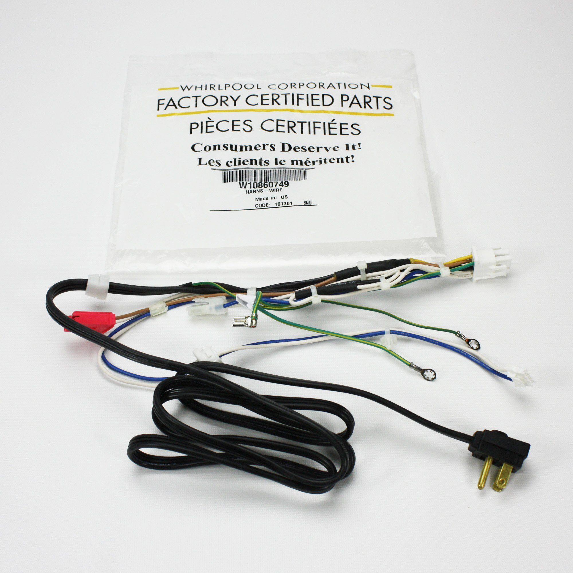 W10860749 Genuine Oem Whirlpool Refrigerator Wire Harness Products Appliance