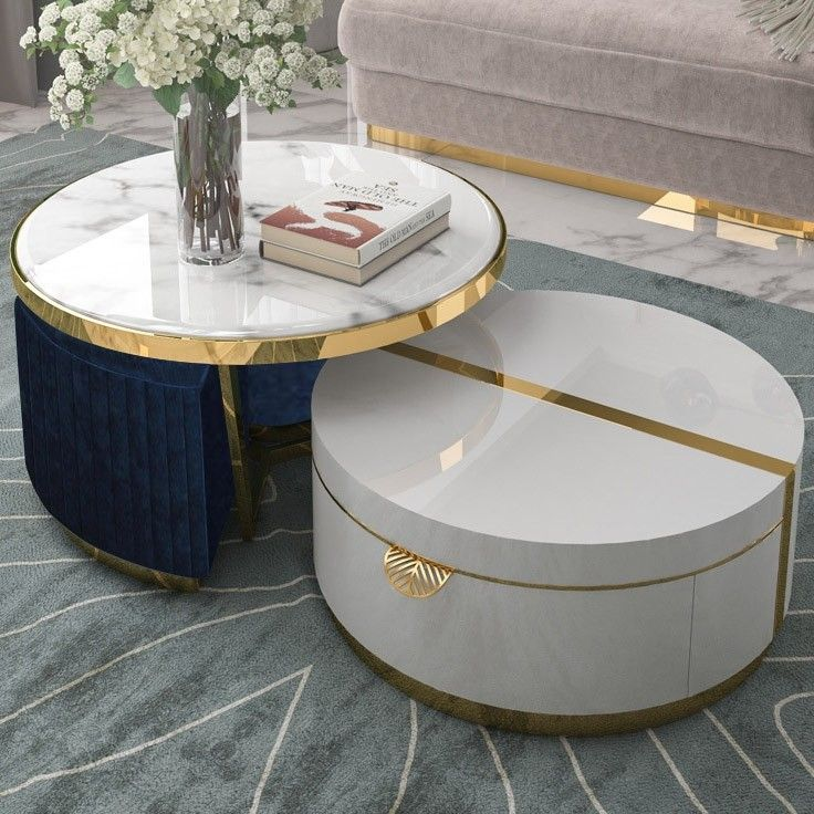 30+ White and gold coffee table with drawers ideas in 2021