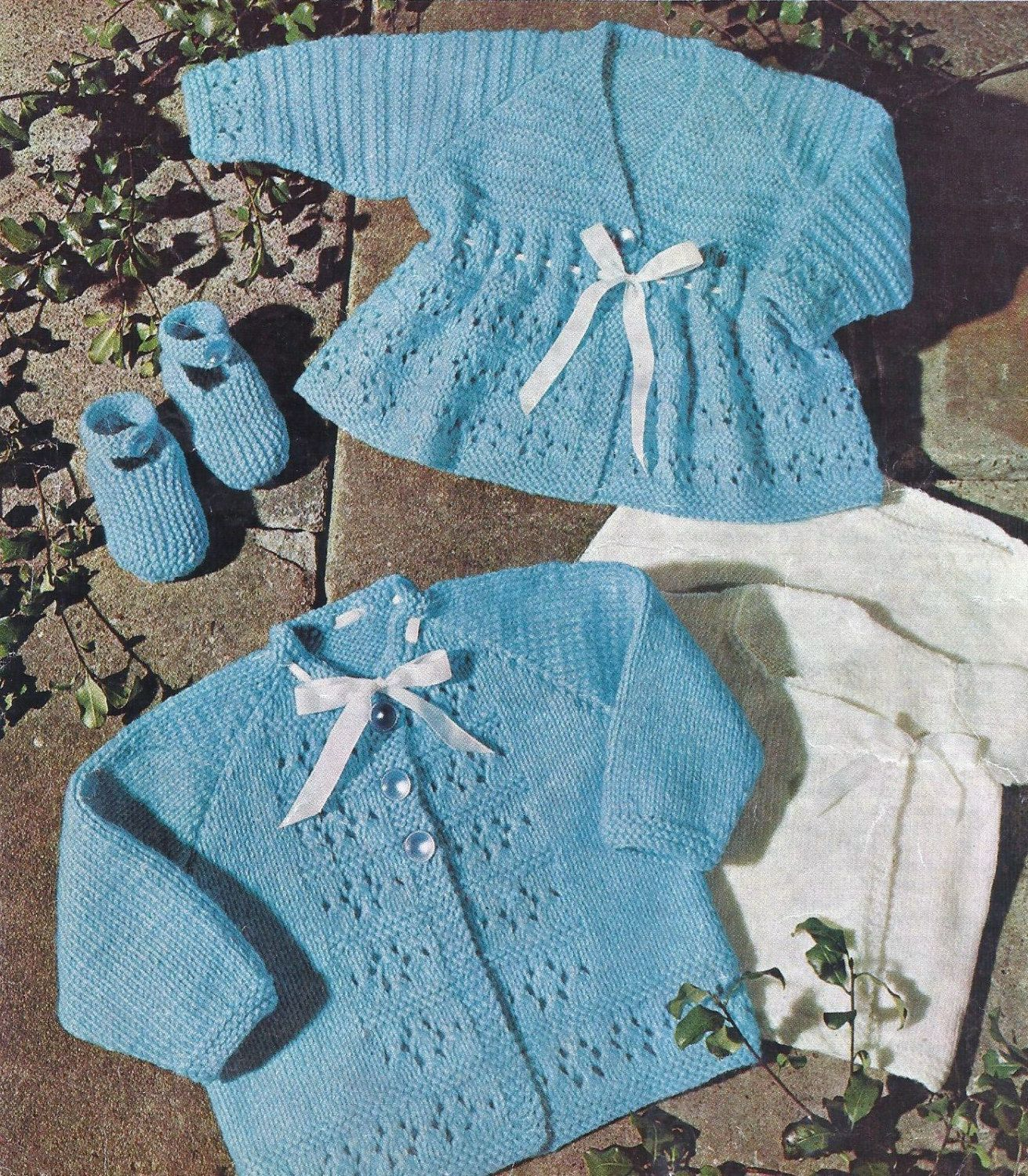Baby knitting pattern 16-20 chest DK Coats by KnittingPatterns4all ...