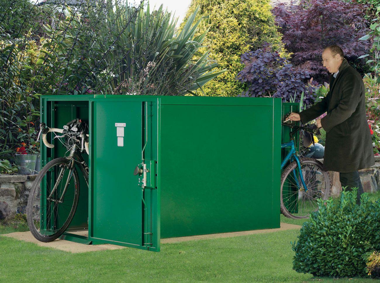 Double Ended Metal Bike Shelter Bike Locker Bike Storage Bike