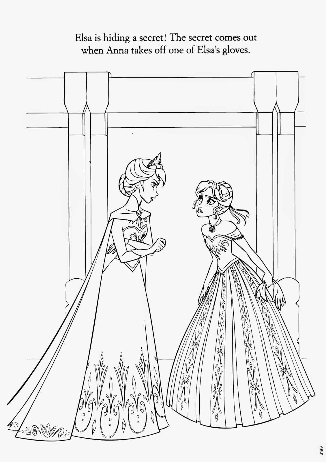 catalin ifrim elsa coloring pages - photo#27