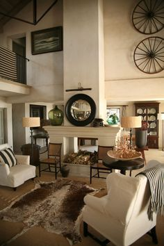 Image result for art for high ceilings Vaulted ceiling room decor
