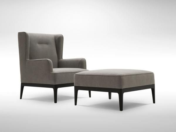 Earl Wing Chair And Ottaman Wing Chair Chair Accent Chairs