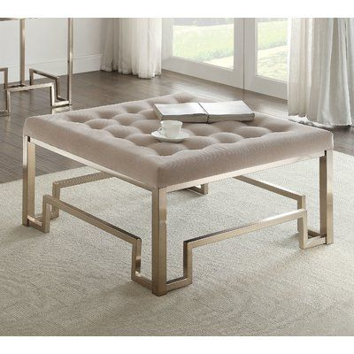 Everly Quinn Cullompt Fabric Coffee Table Fabric Coffee Table
