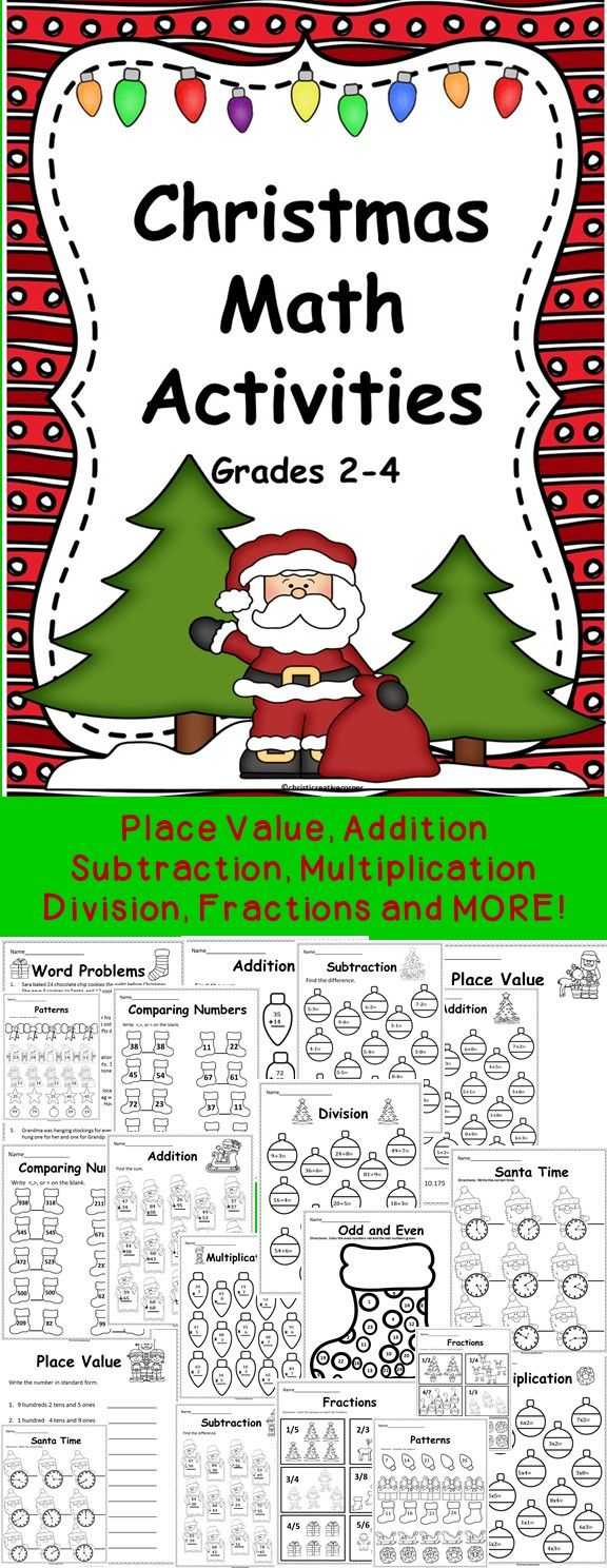 Christmas: Christmas Math Activities 2-4 | Word problems ...