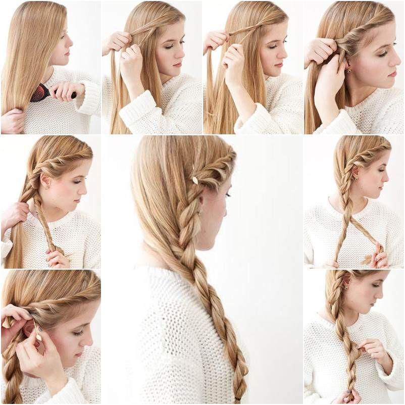 How To Diy Simple Side Braid Hairstyle Icreativeideas Com Long Thin Hair Hair Styles Stylish Hair