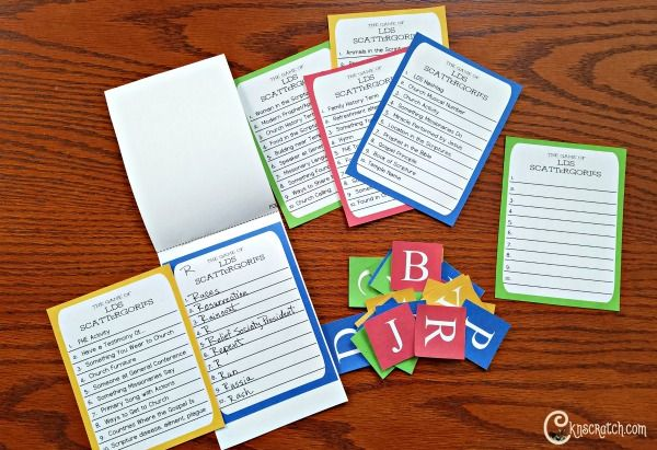 play lds scattergories for family night churches church ideas and