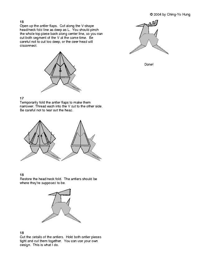 Origami Deer Diagram Illustration Of Wiring Diagram