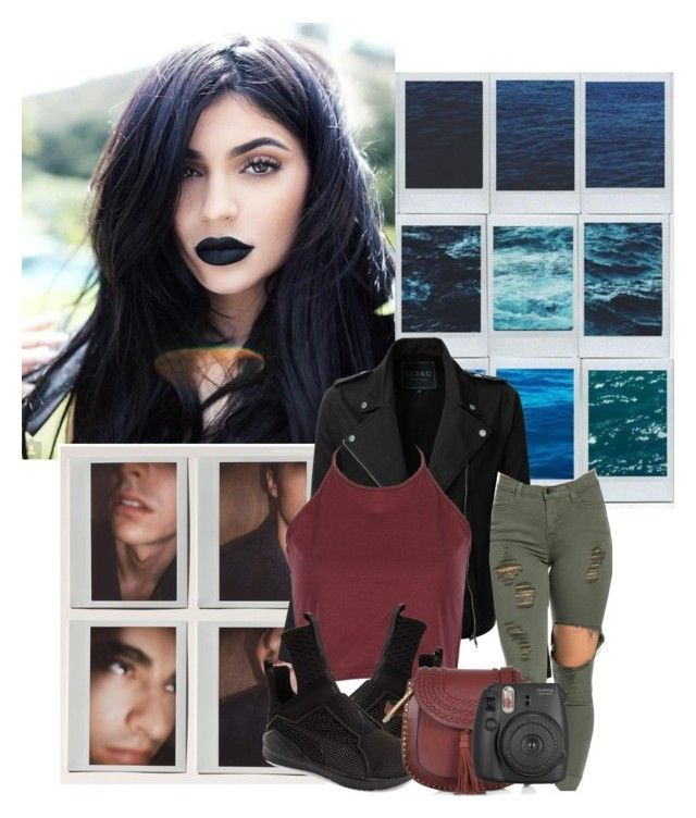 """""""Polaroid memories ✨"""" by itsremique ❤ liked on Polyvore featuring Polaroid, LE3NO, Puma, See by Chloé and Fujifilm"""