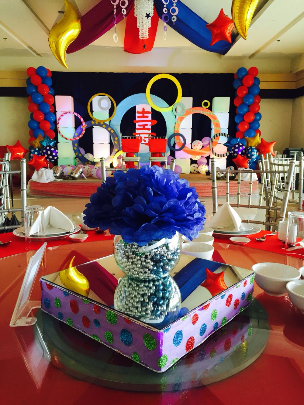 Stage decor and centerpiece