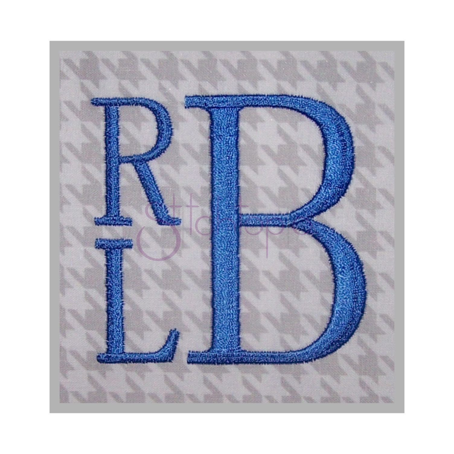 """Stacked Monogram Font 1"""" 1.5"""" 2"""" 2.5"""" 3"""" Embroidery"""