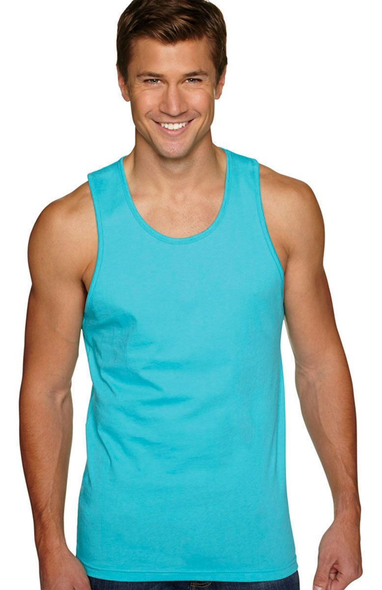 6d6b4ae7cd813e Next Level Men s Soft Self Fabric Jersey Tank Solid Tank Top S-2Xl. 3633