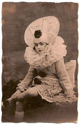 Vintage clown photo