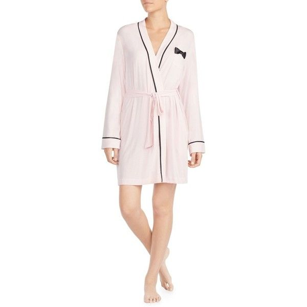 Women s Kate Spade New York Jersey Short Robe (€63) ❤ liked on Polyvore  featuring intimates 4c67dbe2f