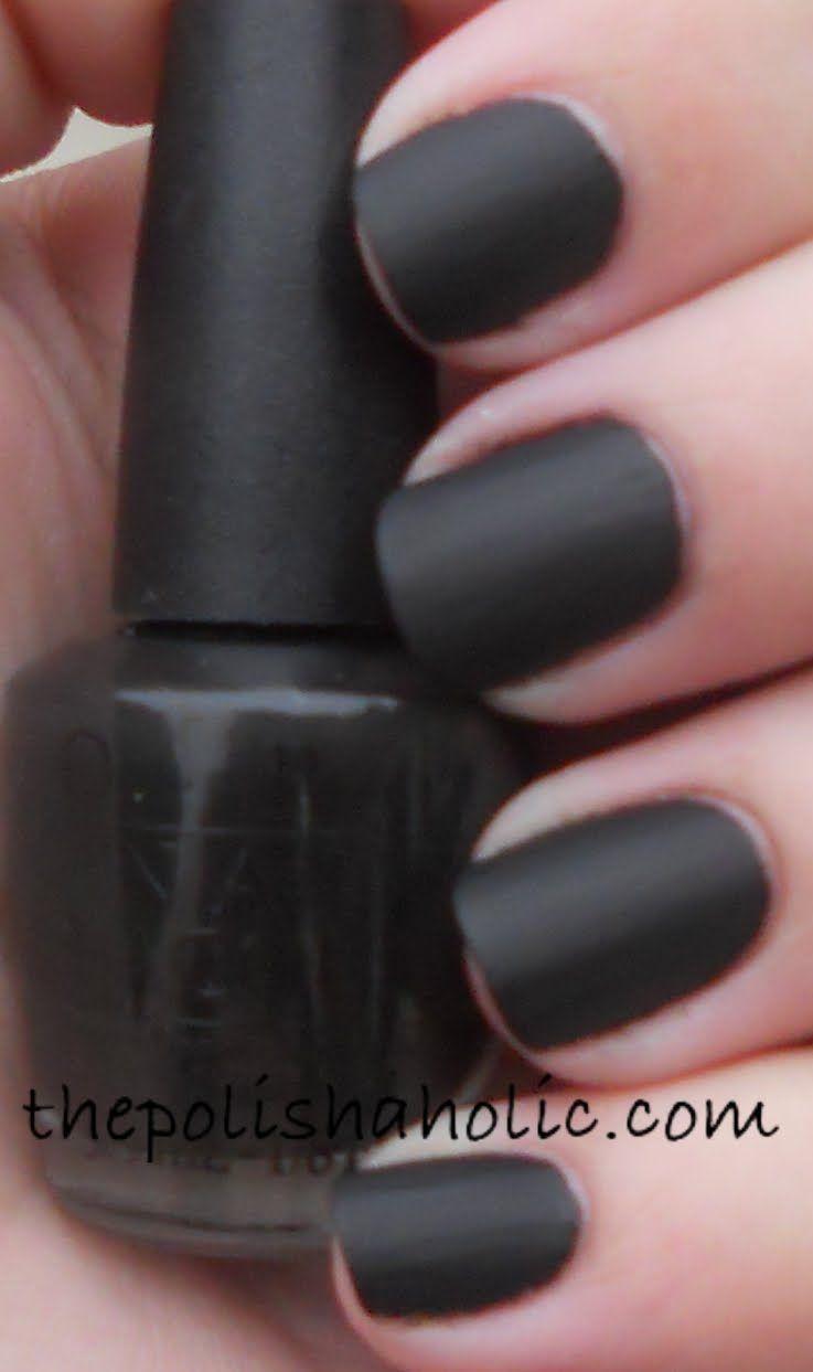 Black nail polish- so mysterious.   Hair and Stuff   Matte ...