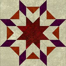 Blazing Star Block from Ginny Beyer - Hundreds of Blocks and a ... : blazing star quilt - Adamdwight.com