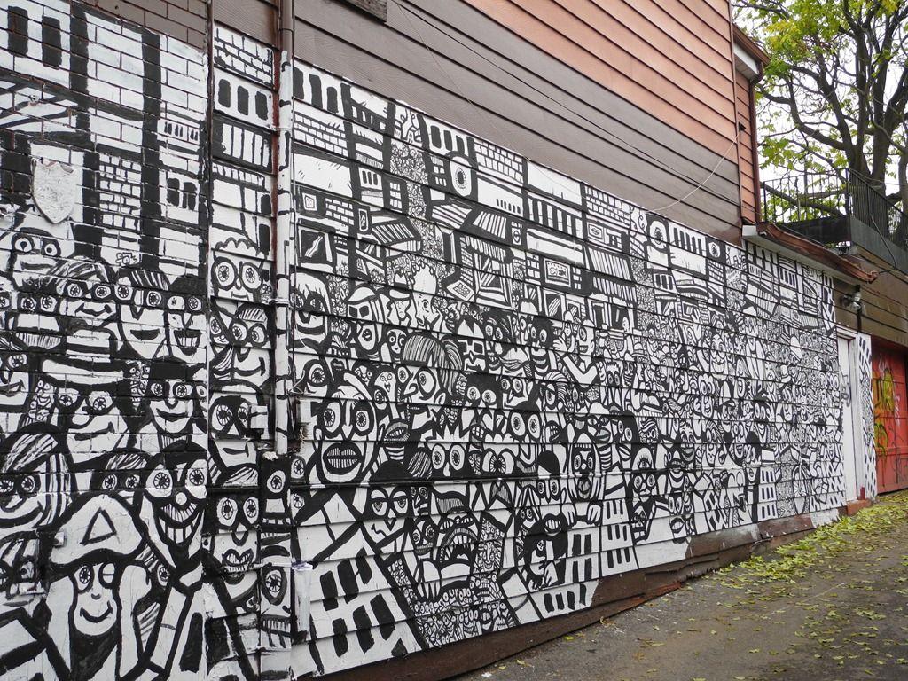 Kensington market off ken aven monochrome pinterest graffiti