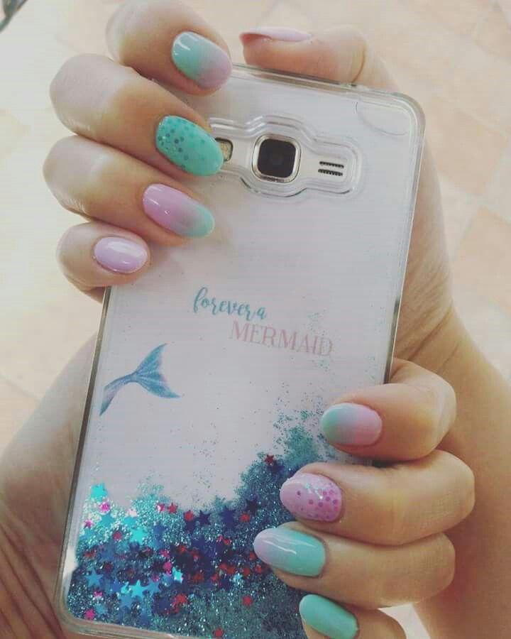 Mermaid#nails# lovemermaidlife#summer