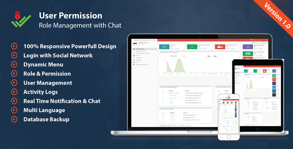 User Management Permission & Role - with Chat | Code Script