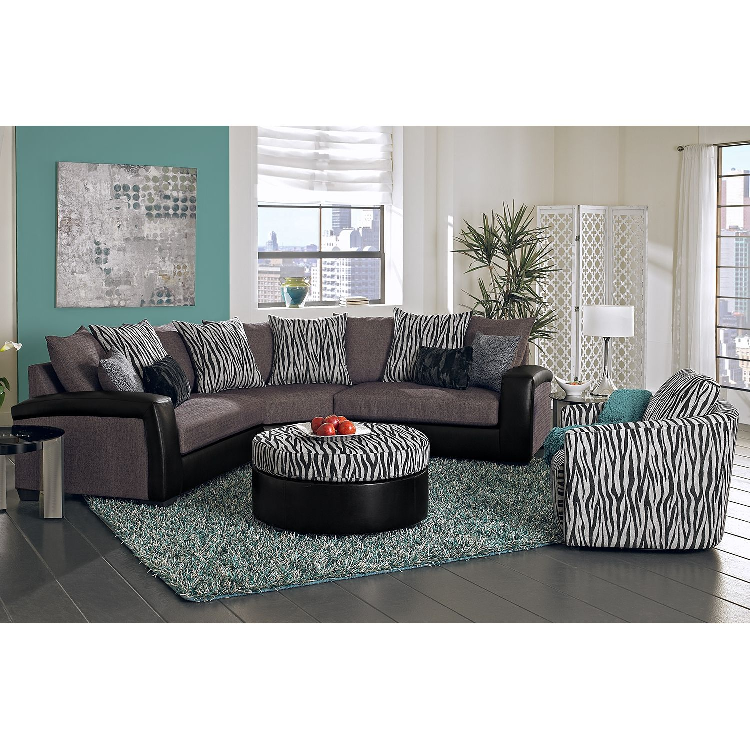 domani upholstery 3 pc sectional  value city furniture
