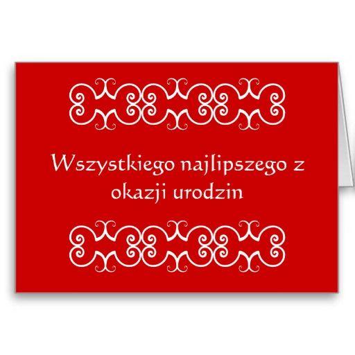 Polish Birthday Greeting Card Pinterest Birthday Greeting Cards